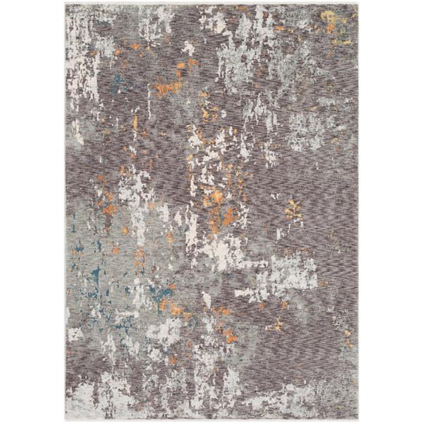 Surya Presidential Modern Area Rug - 3-ft 3-in x 5-ft - Rectangular - Charcoal