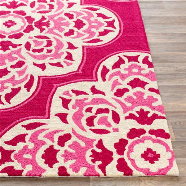 Surya Rain Indoor/Outdoor Area Rug - 9-ft x 12-ft - Rectangular - Pink
