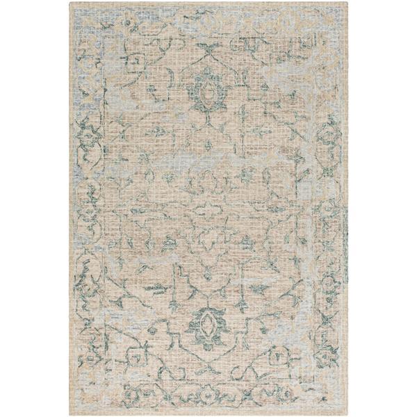 Surya Piastrella Updated Traditional Area Rug - 8-ft x 10-ft - Rectangular - Sage
