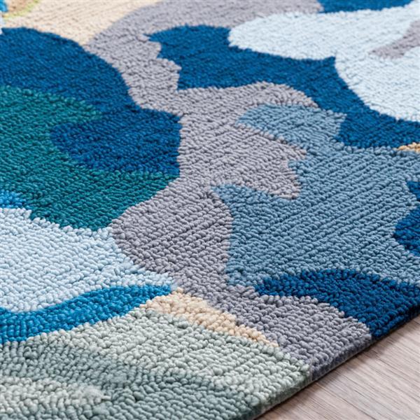 Surya Rain Indoor/Outdoor Area Rug - 9-ft x 12-ft - Rectangular - Blue