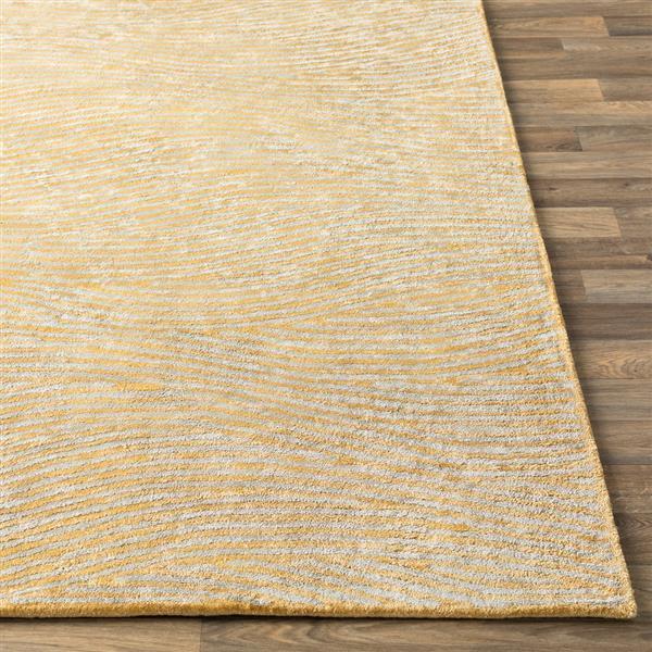 Surya Quartz Modern Area Rug - 4-ft x 6-ft - Rectangular - Butter