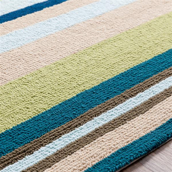 Surya Rain Indoor/Outdoor Area Rug - 9-ft x 12-ft - Rectangular - Teal