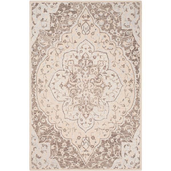 Surya Panipat Updated Traditional Area Rug - 9-ft x 12-ft - Rectangular - Dark Brown
