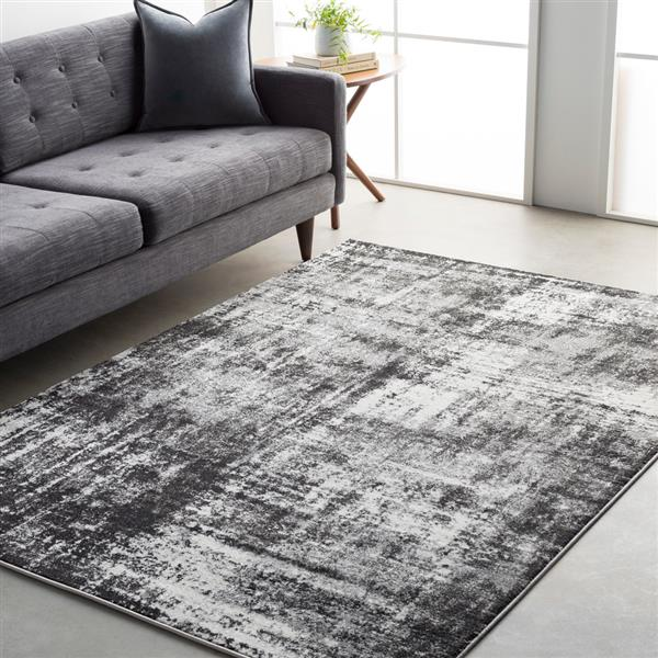 Surya Pepin Modern Area Rug - 7-ft 11-in x 10-ft - Rectangular - Charcoal