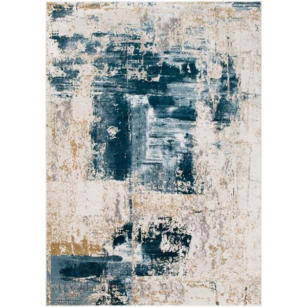 Surya Quatro Updated Traditional Area Rug - 7-ft 10-in x 10-ft 3-in - Rectangular - Dark Blue