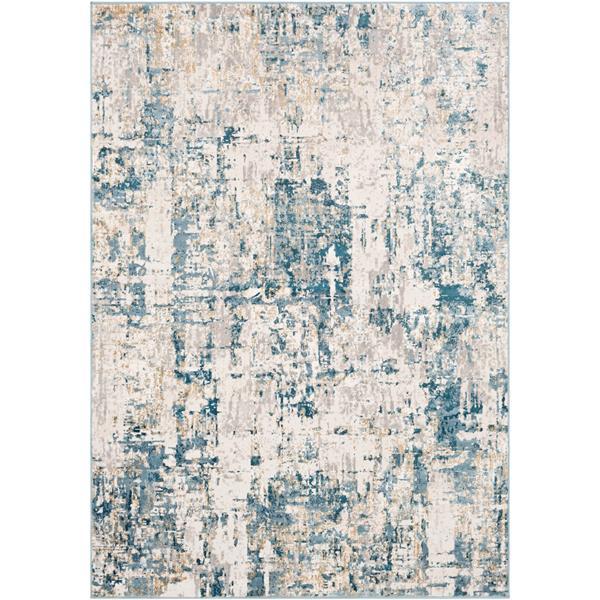 Surya Quatro Updated Traditional Area Rug - 6-ft 7-in x 9-ft 6-in - Rectangular - Dark Blue
