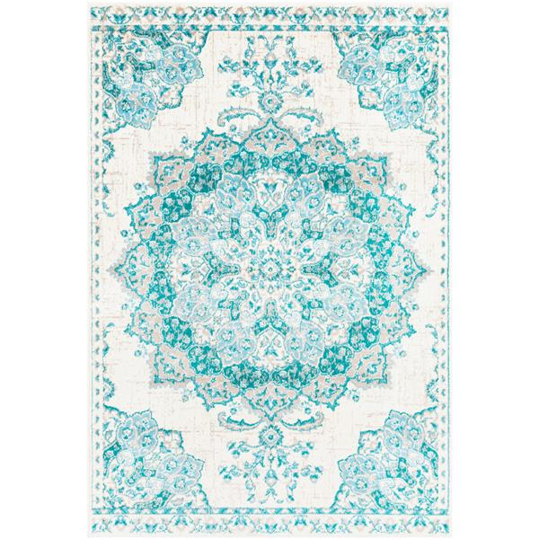 Surya Paramount Updated Traditional Area Rug - 8-ft 10-in x 12-ft 9-in - Rectangular - Teal