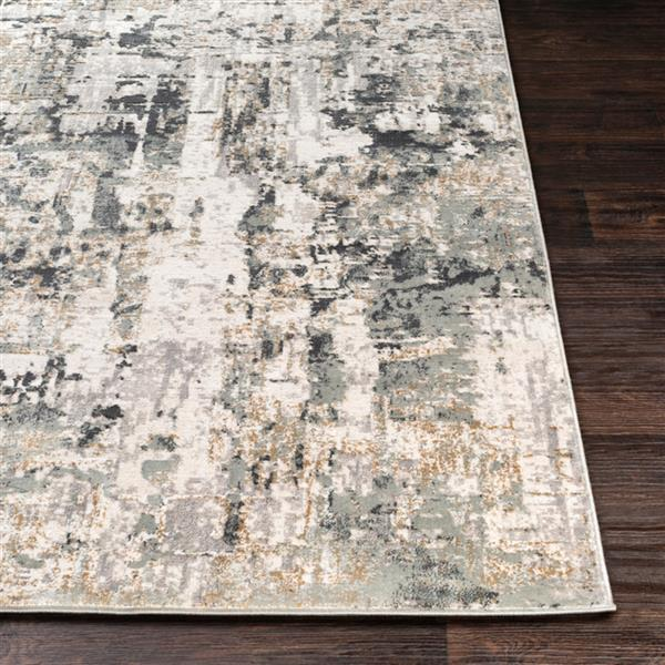 Surya Quatro Updated Traditional Area Rug - 9-ft 3-in x 12-ft 3-in - Rectangular - Silver Gray
