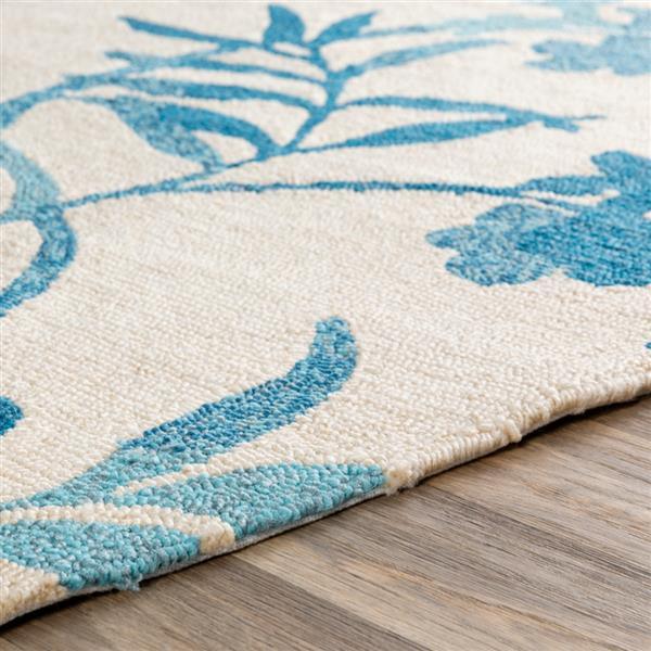 Surya Rain Indoor/Outdoor Area Rug - 8-ft - Round - Blue