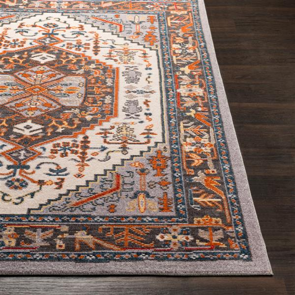 Surya Patina Updated Traditional Area Rug - 3-ft 11-in x 5-ft 7-in - Rectangular - Charcoal