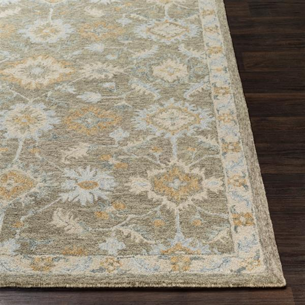 Surya Panipat Updated Traditional Area Rug - 8-ft x 10-ft - Rectangular - Olive