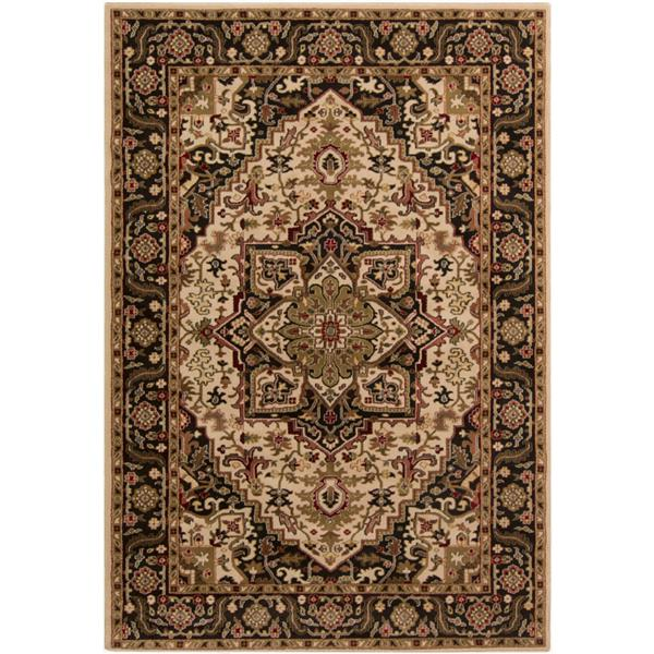 Surya Riley Traditional Area Rug - 7-ft 10-in x 10-ft 10-in - Rectangular - Brown