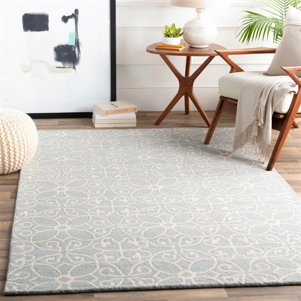 Surya Scott Transitional Area Rug - 8-ft x 10-ft - Rectangular - Gray