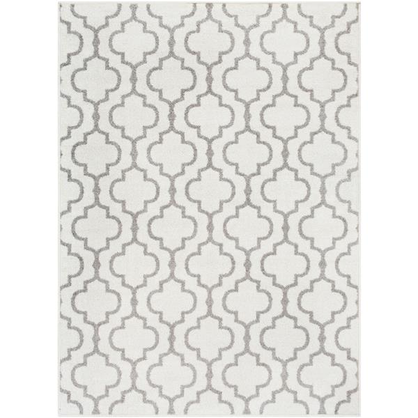 Surya Seville Transitional Area Rug - 7-ft 10-in x 10-ft 3-in - Rectangular - White/Gray
