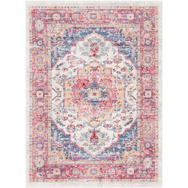 Surya Rumi Updated Traditional Area Rug - 9-ft x 13-ft - Rectangular - Pink