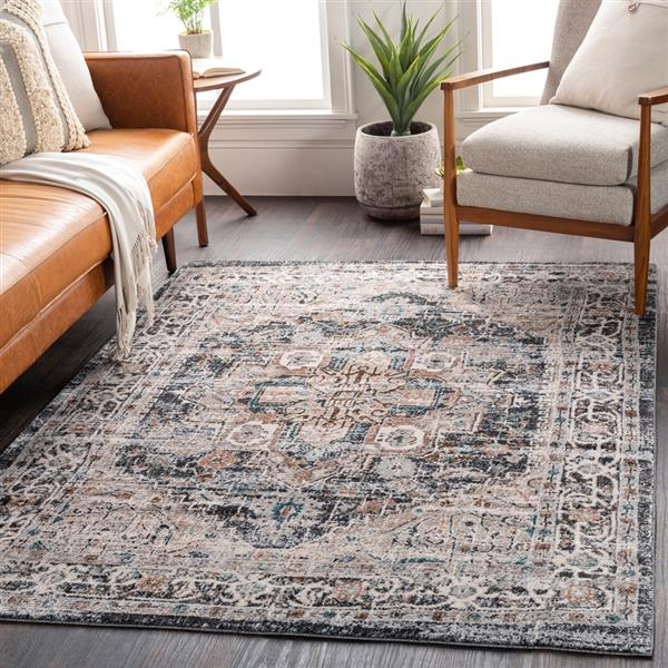 Surya Soft Touch Updated Traditional Area Rug - 7-ft 10-in x 10-ft 3-in - Rectangular - Black
