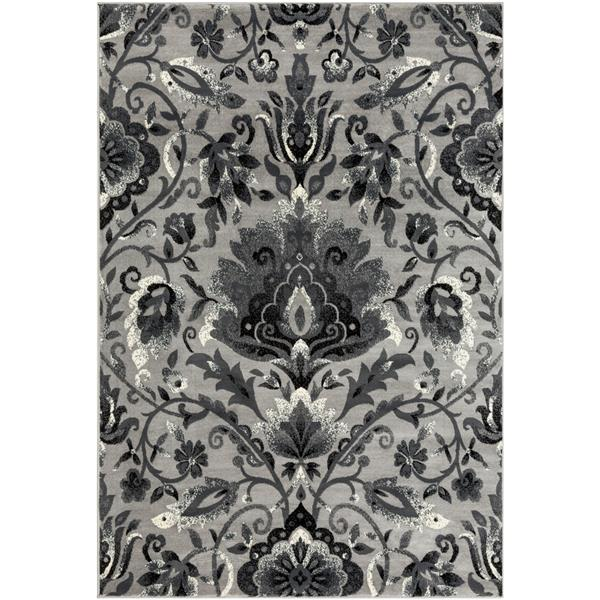 Surya Riley Transitional Area Rug - 7-ft 10-in x 10-ft 10-in - Rectangular - Charcoal