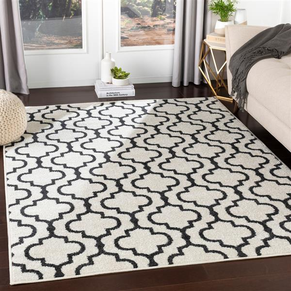 Surya Seville Transitional Area Rug - 7-ft 10-in x 10-ft 3-in - Rectangular - White