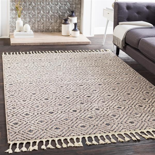 Surya Restoration Bohemian Area Rug - 7-ft 10-in x 10-ft - Rectangular - Taupe