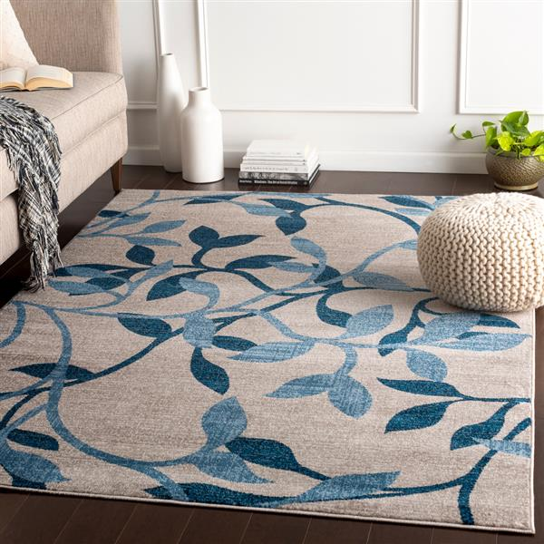 Surya Riley Transitional Area Rug - 10-ft x 13-ft - Rectangular - Blue