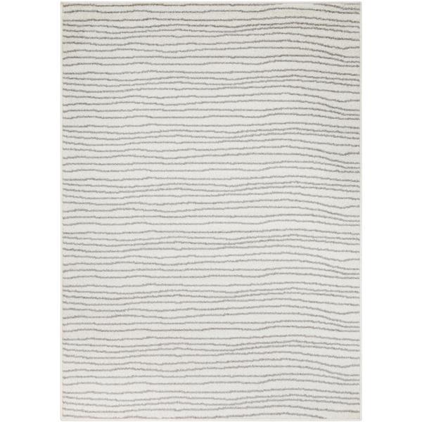 Surya Seville Modern Area Rug - 7-ft 10-in x 10-ft 3-in - Rectangular - White/Gray