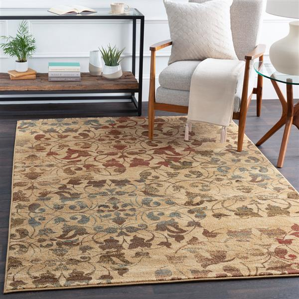 Surya Riley Transitional Area Rug - 8-ft - Round - Camel