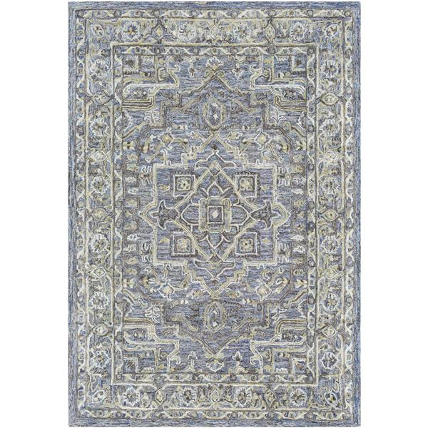 Surya Shelby Traditional Area Rug - 4-ft x 6-ft - Rectangular - Violet