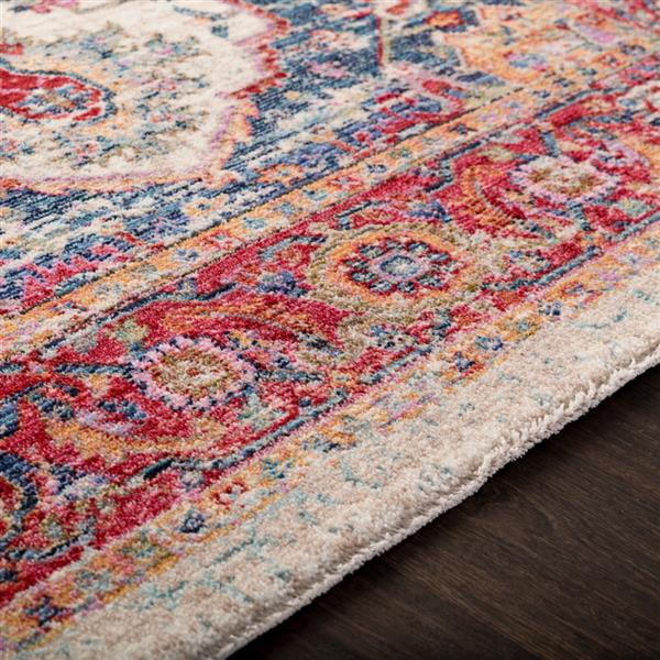 Surya Rumi Updated Traditional Area Rug - 7-ft 10-in x 10-ft 3-in - Rectangular - Pink