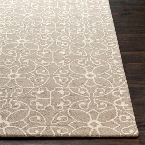 Surya Scott Transitional Area Rug - 4-ft x 6-ft - Rectangular - Taupe