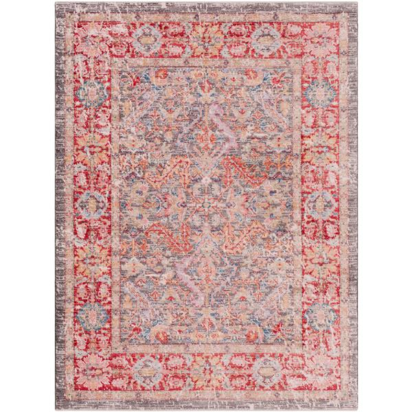 Surya Rumi Updated Traditional Area Rug - 3-ft 11-in x 5-ft 11-in - Rectangular - Burgundy