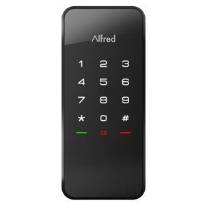 Verrou DB1 Alfred(MD) avec clavier éclairé, noir