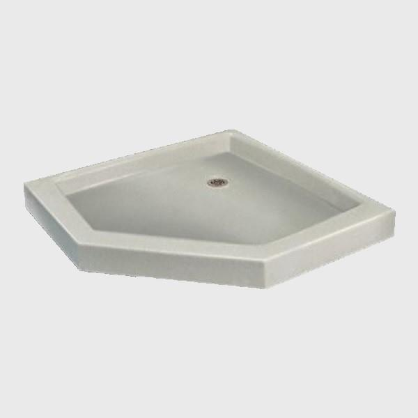 The Marble Factory Neo-Angle Shower Base - 36-in x 36-in - White