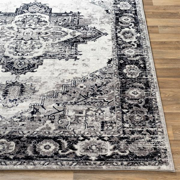Surya Wanderlust Rectangular Transitional Area Rug - 7-ft 10-in x 10-ft 3-in - Black and Grey