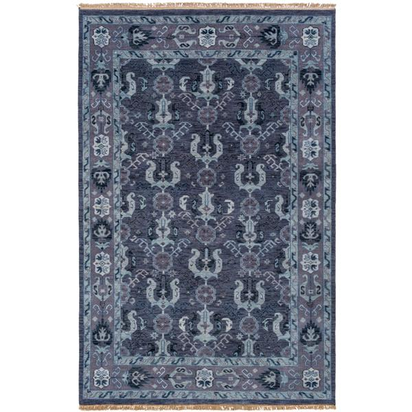 Surya Zeus Rectangular Traditional Area Rug - 3-ft 9-in x 5-ft 9-in - Navy Blue