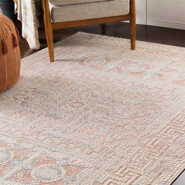 Surya Venezia Rectangular Transitional Area Rug - 7-ft 10-in x 10-ft 3-in - Rose