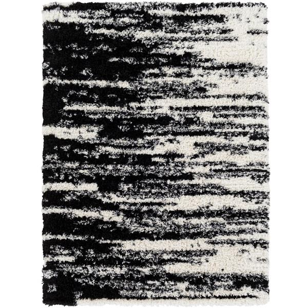 Surya Winfield Rectangular Transitional Area Rug - 7-ft 10-in x 10-ft 3-in - Black