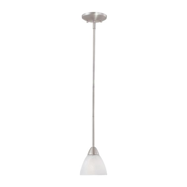 Thomas Lighting Tia Pendant Light - 1-Light - Matte Nickel