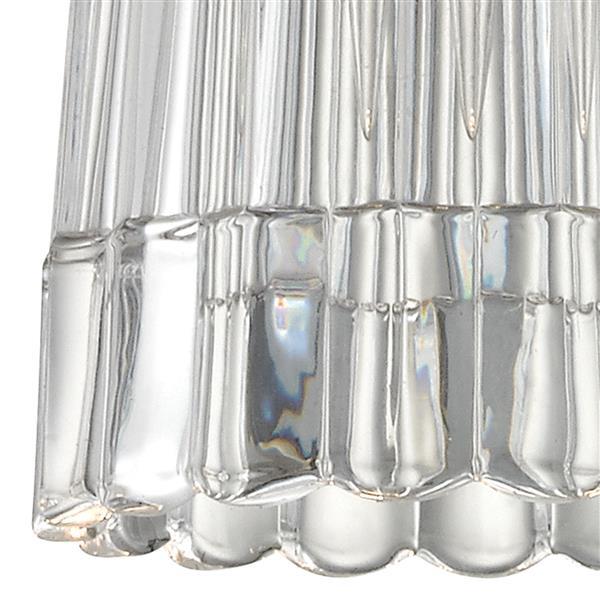 ELK Lighting Kersey Mini Pendant Light - 1-Light - Satin Nickel with Clear Crystal