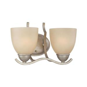 Thomas Lighting Triton Wall Sconce - 2-Light - 12-in x 10.5-in - Silver