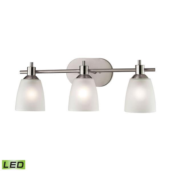 Thomas Lighting Jackson Bathroom Vanity Light - 3-LED Light - 24-in - Brushed Nickel