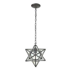 ELK Home Star Mini Pendant Light - 1-Light - 9-in - Oiled Bronze