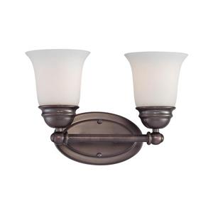 Thomas Lighting Bella Wall Sconce - 2-Light - 13-in x 10-in - Oiled Bronze