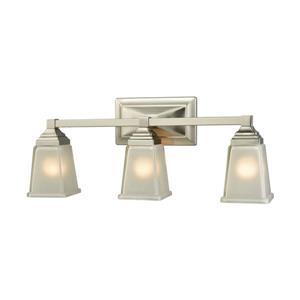 Thomas Lighting Sinclair Bathroom Vanity Light - 3-Light - 23-in - Brushed Nickel