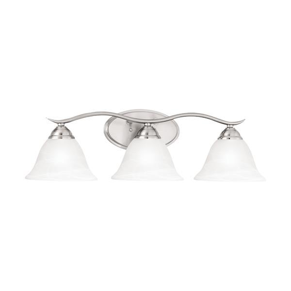 Thomas Lighting Prestige Bathroom Vanity Light - 3-Light - 26-in - Brushed Nickel