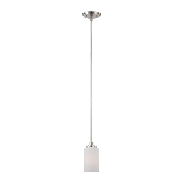 Thomas Lighting Pittman Pendant Light - 1-Light - Brushed Nickel