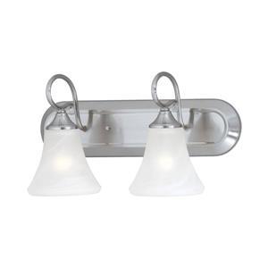 Thomas Lighting Elipse Bathroom Vanity Light - 2-Light - 24.75-in - Brushed Nickel