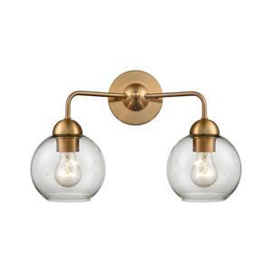 Thomas Lighting Astoria Bathroom Vanity Light - 2-Light - 17-in - Satin Gold