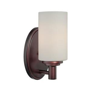 Thomas Lighting Pittman Wall Sconce - 1-Light - 4.5-in x 7-in - Sienna Bronze