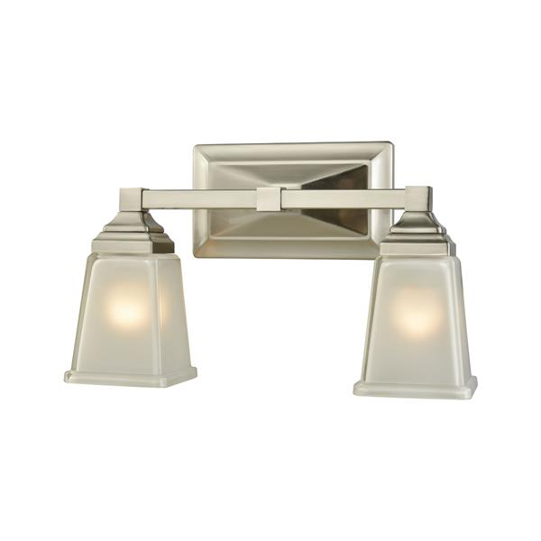 Thomas Lighting Sinclair Bathroom Vanity Light - 2-Light - 14.5-in - Brushed Nickel