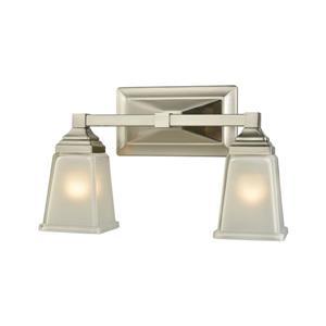 Thomas Lighting Sinclair Bathroom Vanity Light - 2-Light - 14.5-in - Brushed Nickel